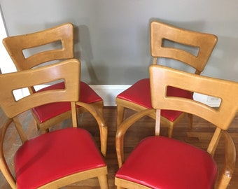 Heywood Wakefield Dogbone Chairs Set of 4