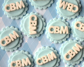 Fondant letters and initials. These letter and initial fondant toppers are perfect for weddings, baby showers, birthdays and more!