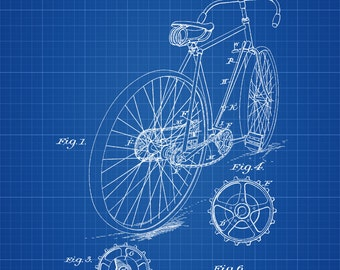 Unicycle patent print bicycle patent print bike blueprint bicycle patent vintage bicycle bicycle blueprint bicycle art cyclist gift bicycle malvernweather Images