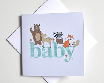 Greeting Card - Mini / Baby Forest Animals