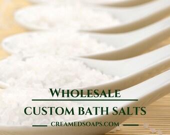 Wholesale Custom Bath Salts; Wholesale Epsom Salts; Wholesale Dead Sea Salt; Wholesale Bath Soak