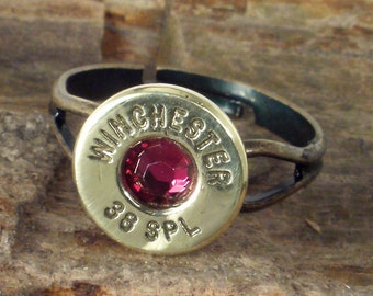 Ruby Bullet Jewelry Ring - Winchester 38 SPL