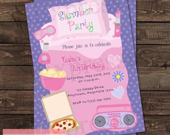 Slumber Party Birthday Invitation