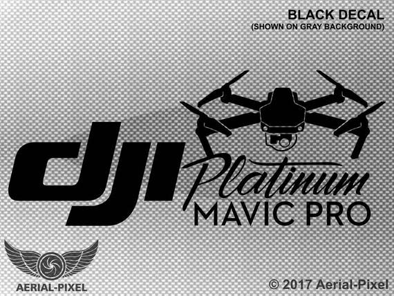DJI Mavic Pro Platinum Case Vehicle Decal Sticker Quadcopter