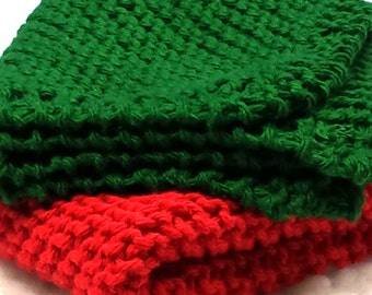 Hand Knitted 100% Cotton  Wash Cloths