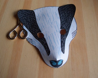 Badger Mask - Printable Halloween Mask - Downloadable PDF - Paper Craft Kit