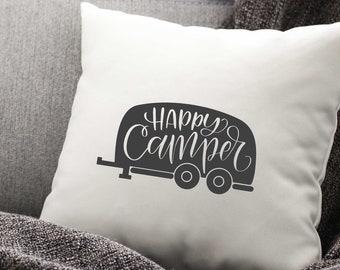 Happy Camper SVG | Camping SVG | Camping Quote SVG | Camper svg | Holly Pixels | Adventure svg | svg for Shirt | Summer svg Design