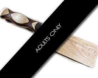 """Hardwood Paddle Maple and Walnut 12"""""""