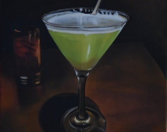 Imbibing: Pear Martini (framable size 12 x 16)