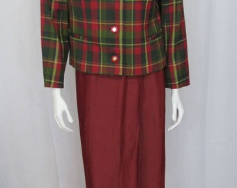 Avoca collection County Wicklow Ireland adorable tartan wool plaid jacket size M
