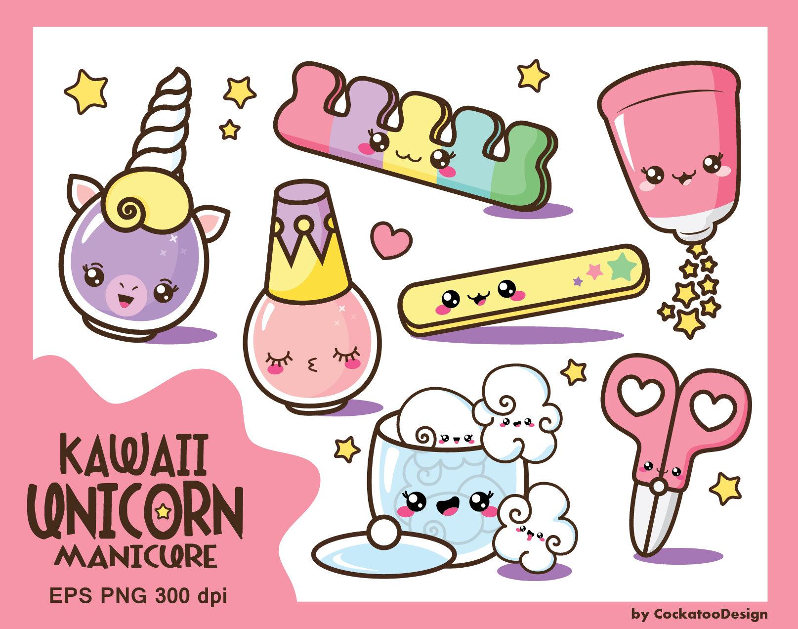 kawaii clip art nail polish clipart kawaii clipart cute rh etsy com kawaii clipart tumblr kawaii clipart transparent