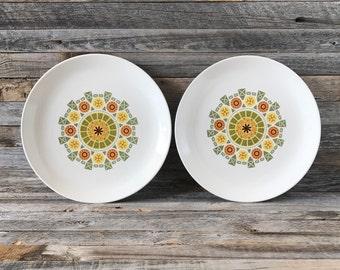 Vintage Steubenville Pottery Yorktown Dinner Plates, Canonsburg Pottery
