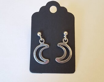Gothic moon earrings