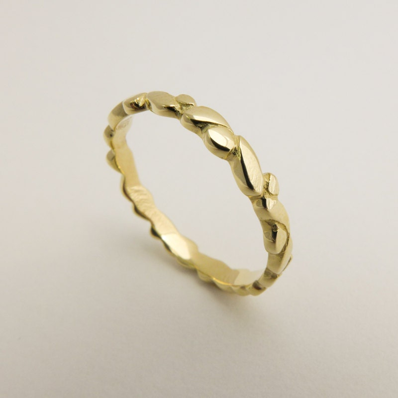 Thin wedding band Gold dots wedding ring Womens wedding