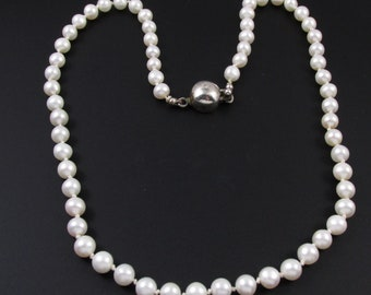 Genuine Pearl Necklace, Real Pearl Necklace, Bridal Necklace, Preppy Necklace