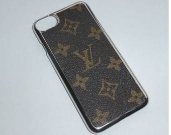 New Iphone 6 7 Phone case covered in Salvaged Louis Vuitton material.