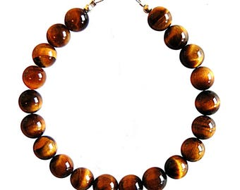 Bracelet Tiger eye beads 8mm