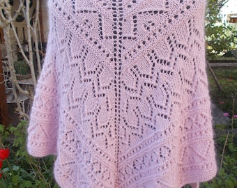 Baby alpaca and mohair shawl gently
