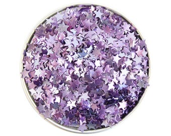 Purple Star Edible Glitter - metallic purple star glitter sprinkles, edible purple glitter stars, purple star sprinkles