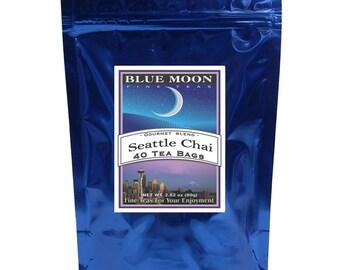 Thé Chai de Seattle, Pack de 40 sachets de thé