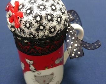 Small mug pincushion