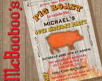 Rustic Pig Roast Invitation