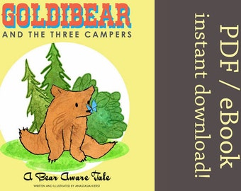 Goldibear and the Three Campers, A Bear Aware Tale - Book: DIGITAL VERSION