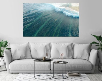 Surfer Ocean Waives Sport Surf Art Print Wall Decor Poster Size: 40 x 60 - 2XL