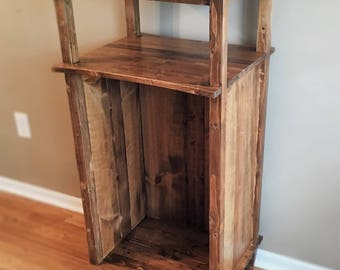 Rustic Firewood Cabinet