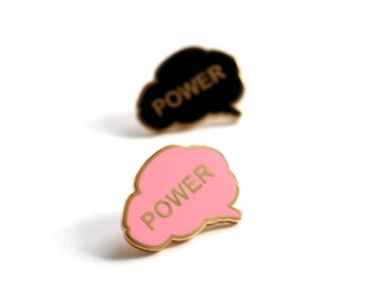 Brain Power Pin Badge, Enamel Pin Badge, Brain Brooch, Good Luck Gift, Graduation Gift, Hard Enamel Pin, Pins, Lapel Pin, RockCakes