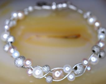 Sterling and Freshwater Cultured Pearl Bracelet