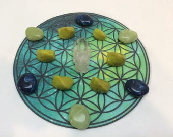Flower of Life Crystal Grid Cloth Available in 4 Different Colours  Sacred Geometry Healing Spiritual Reiki Metaphysical