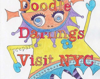 Dorky Doodle Darlings Visit NYC, an Illustrated Journal