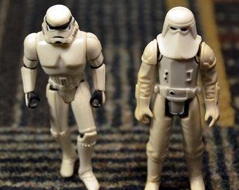 Vintage Star Wars 1980 Snowtrooper and 1995 Stormtrooper
