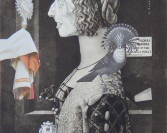 The Confessional --original paper collage