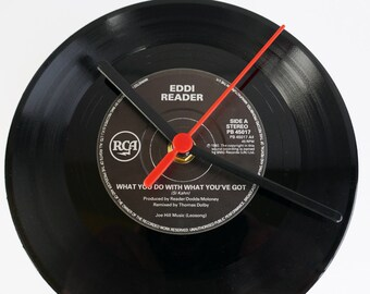 "Eddie Reader - What You Do With What You've Got 7"" record Clock"