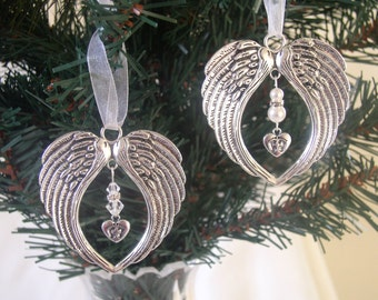 Memorial Angel Wing Hanging Christmas Tree Ornament - Baby Loss/Miscarriage