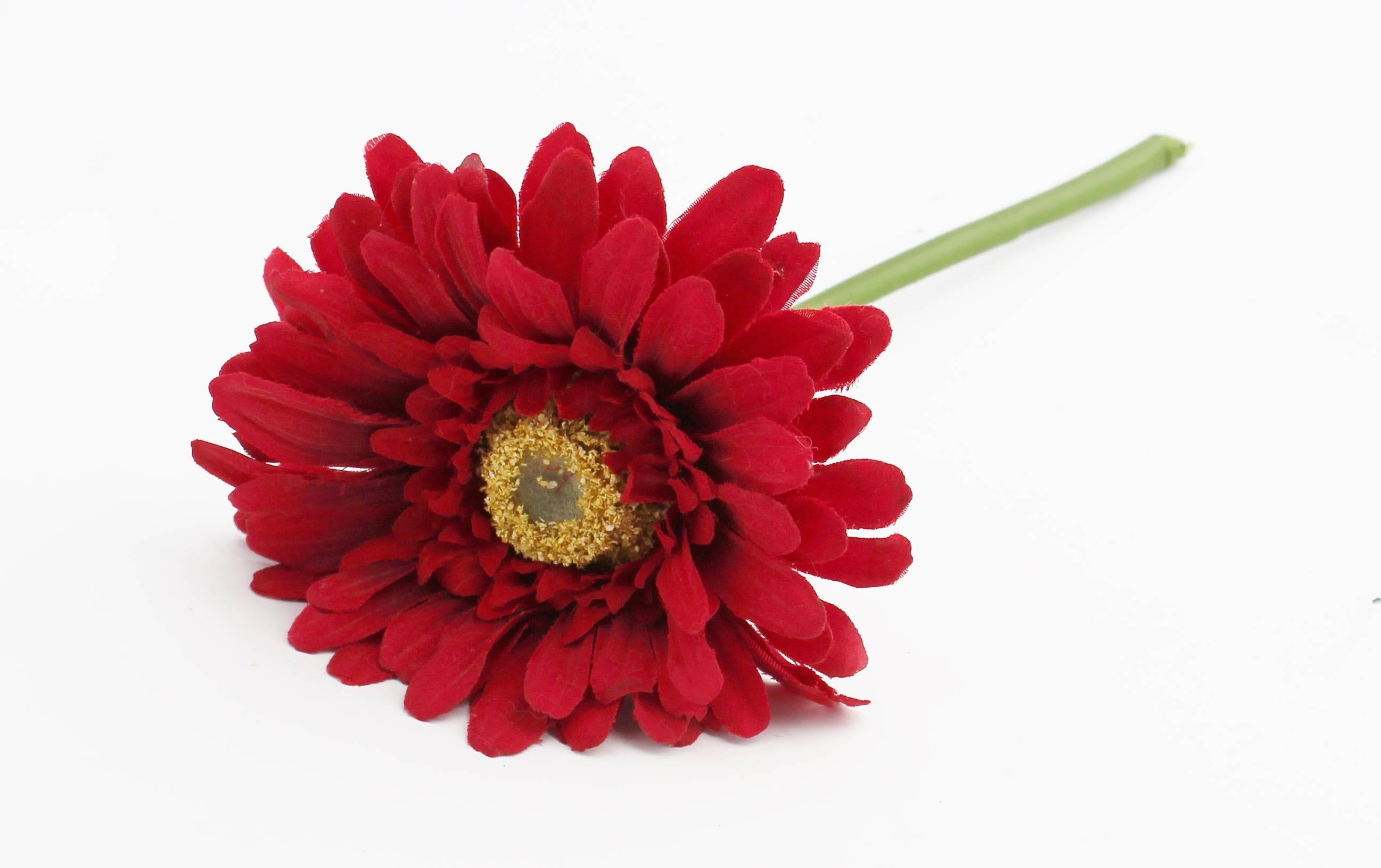 Red Gerbera Daisy Flower Crown Wedding Bouquet Hair