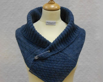 Cas Shawl PDF Knitting Pattern Collared Scarf Shawl