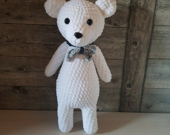 Large handmade crochet stuffed bear