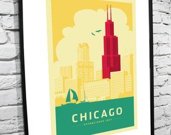 Chicago Skyline 11x14 Poster