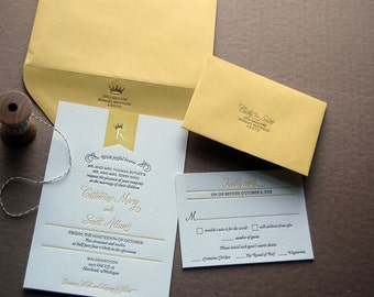Letterpressed Wedding Invitations - Banner