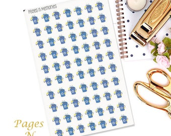 Recycling Planner Stickers/Garbage Stickers/ Functional Stickers/  Erin Condren/ Plum Paper/ Happy Planners/ Recollections  #120