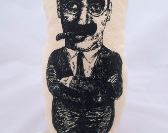 Groucho Marx - handmade cotton plushie