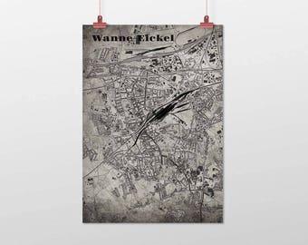 Wanne-eickel - A4 / A3 - print - OldSchool