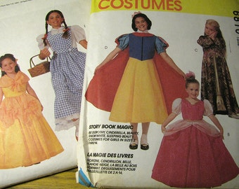 Vintage McCalls 6810 Halloween Costume Sewing Pattern Girls Size 2, 3  Never Used - Cinderella, Sleeping Beauty, Dorothy, Snow White, Beauty