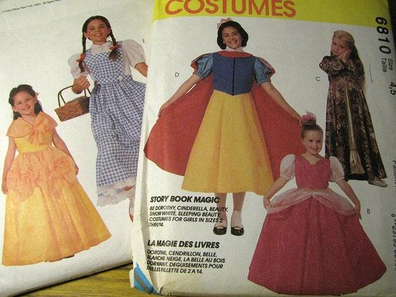 Vintage McCalls 6810 Halloween Kostüm nähen Muster Mädchen