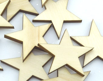 Crafting Supplies - 50 Laser cut wooden stars