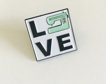 LOVE Sewing Machine Soft Enamel Pin
