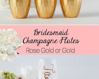 Bridesmaid Gift, Bridesmaid Proposal Box, Bridesmaid Champagne Flutes, Bridesmaid Proposal Box, Champagne Glasses, Bridal party Gifts